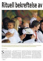Rituell bekreftelse av familien - Stiftelsen Kirkeforskning KIFO