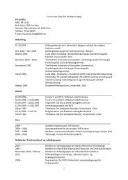 Se fullstendig CV med publikasjoner i pdf format - Stiftelsen ...