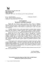 Oznámení - Seznámení s podklady pro rozhodnutí - Horní Počernice