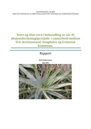 Rapport fra aksjonsforskningsprosjektet om tetre og aloe vera i ...