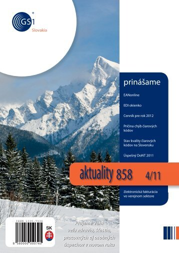 aktuality 858 4/2011 - GS1 Slovakia