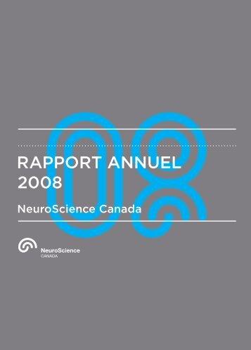 RAPPORT ANNUEL 2008 AN NU AL 20 08 - Brain Canada