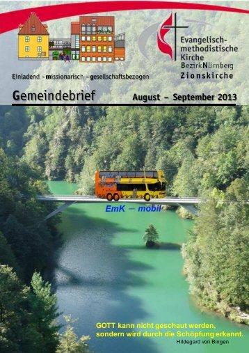 Gemeindebrief Aug-Sep 2013 low - Zionsgemeinde