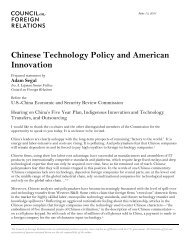 Chinese Technology Policy and American Innovation - U.S.-China ...
