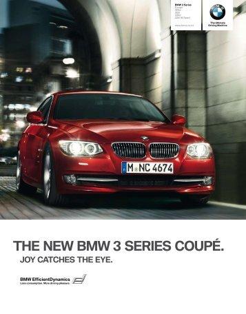 THE NEW BMW 3 SERIES COUPÉ. - BMW New Zealand