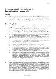 Immobilisations incorporelles - Normes d'information financière et ...