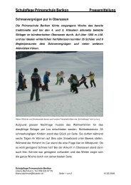 Skilager Pressetext - Primarschule Berikon