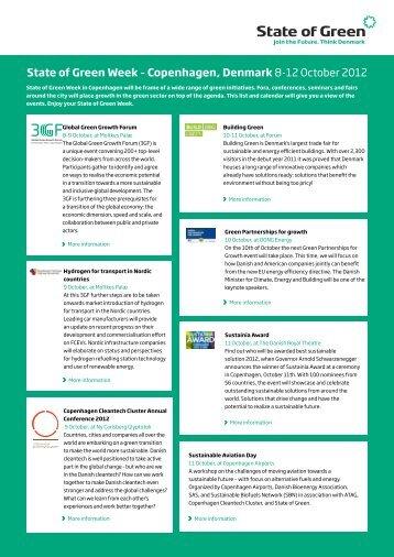 green week's highlights here - Copenhagen Cleantech Cluster