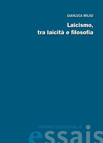Laicismo, tra laicità e filosofia www.filosofia.it