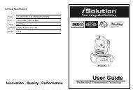 User Guide - MBT Lighting