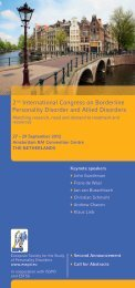 2nd International Congress on Borderline Personality Disorder and ...