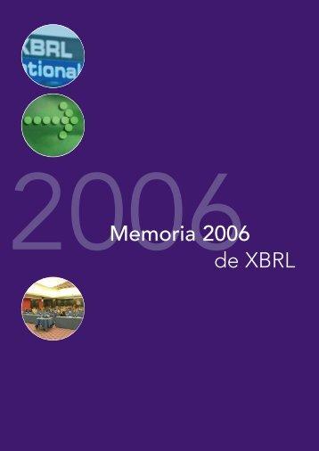 Memoria - XBRL España