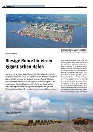 Riesige Rohre für einen gigantischen Hafen