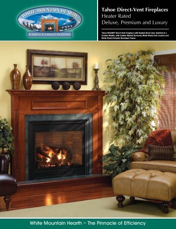 Tahoe Direct-Vent Fireplaces Heater Rated Deluxe ... - Mrohsgas.com