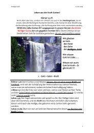 Predigt Leben aus der Kraft 12.07.09-1 - Cornerstone-Gemeinde Linz