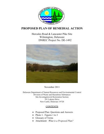 PROPOSED PLAN OF REMEDIAL ACTION - Delaware Department ...
