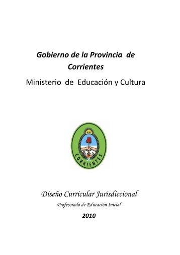 Gobierno de la Provincia de Corrientes Ministerio de Educación y ...