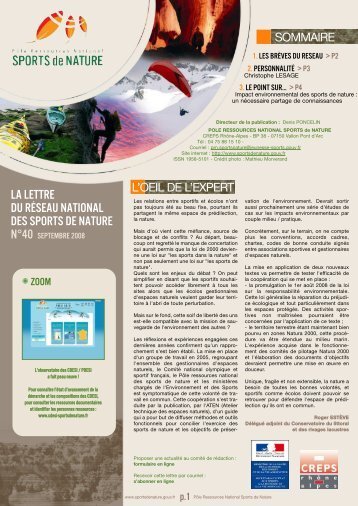 Télécharger l'intégralité de la lettre - Pôle Ressources National ...