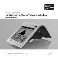 SUNNY BEAM mit Bluetooth® Wireless Technology ...