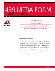439 ULTRA FORM ® Stainless Steel Data Bulletin - AK Steel