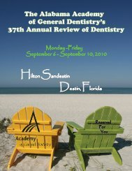 The Alabama Academy of General Dentistry's 37th ... - ALAGD.org
