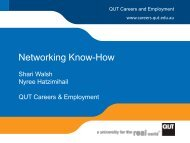 Networking Know-How - QUT Careers and Employment