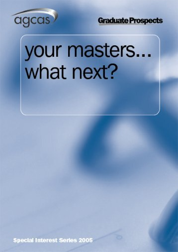 Masters Degree... What next? - QUT Careers and Employment