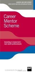 Career Mentor Scheme Brochure - QUT Careers and Employment