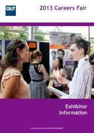 2013 Careers Fair - QUT Careers and Employment