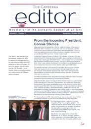 October 2012 issue - Canberra Society of Editors