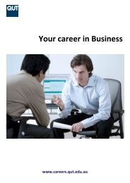 Your career in Business - QUT Careers and Employment
