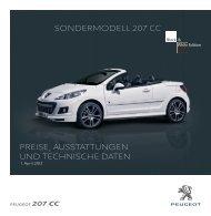 sondermodell 207 cc - Peugeot