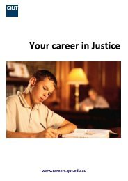 Your career in Justice - QUT Careers and Employment