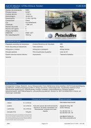 Audi A3 Sportback Attraction 1,9 TDIe 5-Gang 14.950 ... - Petschallies