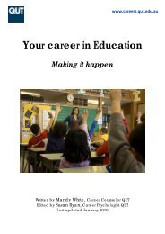 Your career in Education - QUT Careers and Employment