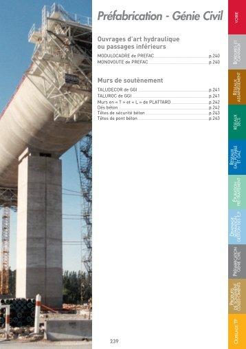 Préfabrication - Génie Civil - Celestin Materiaux