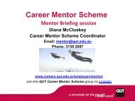 Mentor Briefing Session Slides - QUT Careers and Employment