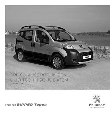 PREISE, AUSSTATTUNGEN UND TECHNISCHE DATEN - Peugeot