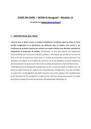 ETATS DE CHOC – DCEM IV Rangueil – Module 11