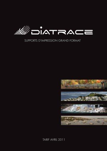 supports d·impression grand format tarif avril 2011 - Diatrace
