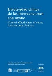 Efectividad clínica de las intervenciones con ozono - Junta de ...