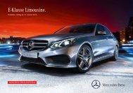 E-Klasse Limousine. - Mercedes-Benz Automobil AG