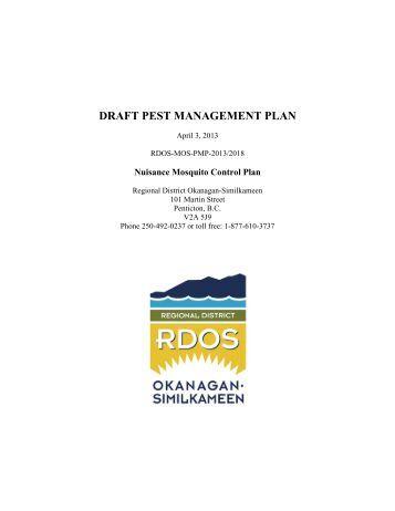 pest management plan template - permex 850 emulsifiable c
