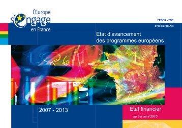 Etat d\'avancement_01-04-10.pdf - Europe en France, le portail des ...