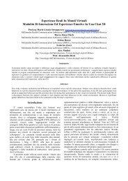 Esperienze Reali In Mondi Virtuali Modalità Di Interazione ... - Filosofia