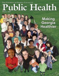 2007/2008 CPH Magazine - College of Public Health - University of ...