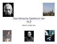 Das klinische Spektrum der ALS