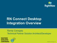 RN Connect Desktop Integration Overview - RightNow Technologies