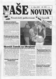 Číslo 20 - naše noviny archiv