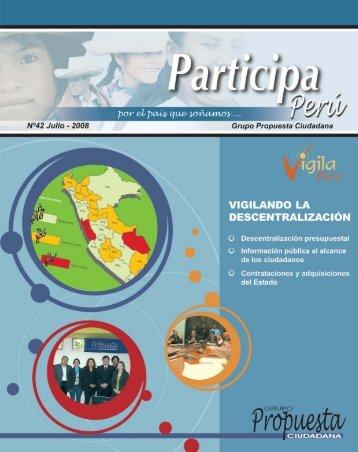 Participa Perú # 42 - Grupo Propuesta Ciudadana